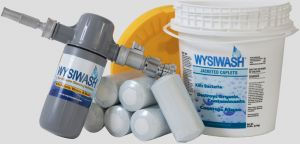 WYSIWASH Sanitizer-V and 9-Pack of Jacketed Caplets