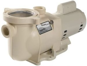 Pentair Stainless Steel SuperFlo Single-Speed Almod Pool Pump, 1-Horsepower 115/230-Volt Single-Phase