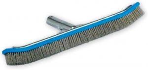 Pentair 718 Back Aluminum Algae Brush with Stainless Steel Bristle, 18-Inch