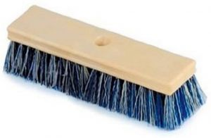 Pentair Acid-Wash/Tile/Deck Wood Brush with Crimped Bristle, 10-Inch, Blue and White