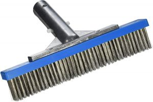 Pentair 709 Back Aluminum Algae Brush with Stainless Steel Bristle, 9-Inch