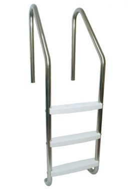 """3 Tread 30"""" Commercial Ladder 316-L S.S."""